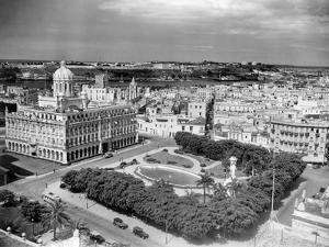 1930s-1940s Presidential Palace Seen from Sevilla Hotel Havana Cuba