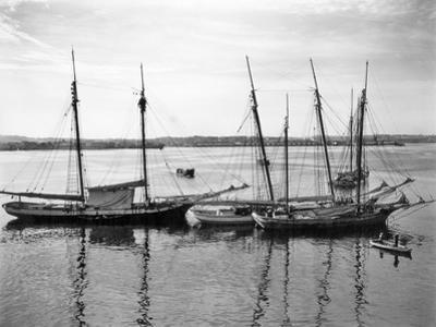 1930s-1940s Sailing Ships at Anchor Havana Harbor Cuba