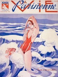 1930s France La Vie Parisienne Magazine Cover