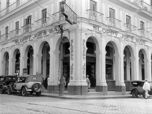 1930s Outside Facade of Sloppy Joe's Bar Said to Be Origin of Sloppy Joe Sandwich Old Havana Cuba