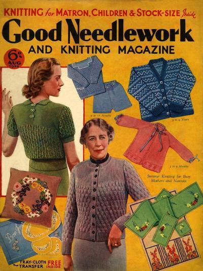 1930s UK Good Needlework and Knitting Magazine Cover--Giclee Print