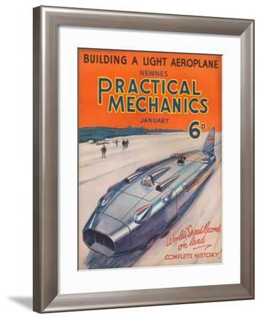 1930s UK Practical Mechanics Magazine Cover--Framed Giclee Print