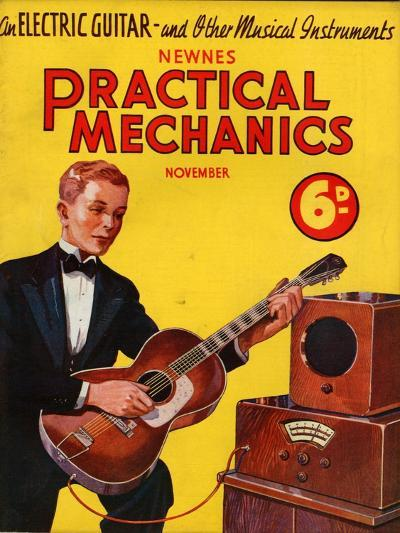 1930s UK Practical Mechanics Magazine Cover--Giclee Print