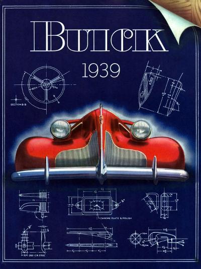 1930s USA Buick Magazine Advertisement--Giclee Print