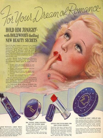 1930s USA Hollywood Magazine Advertisement--Giclee Print