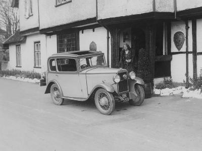 1931 Triumph Scorpion Outside the Bell Inn, Hurley, Berkshire, (C1931)--Photographic Print
