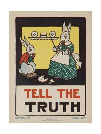 1932 American Citizenship Poster Tell the Truth--Giclee Print