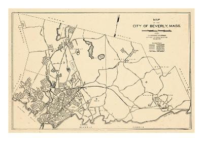 1932, Beverly City Map, Massachusetts, United States--Giclee Print