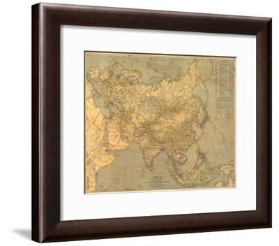 1933 Asia Map-National Geographic Maps-Framed Art Print