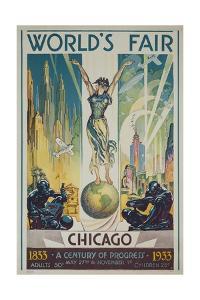 1933 Chicago Centennial World's Fair Poster