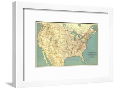 1933 United States of America Map-National Geographic Maps-Framed Art Print