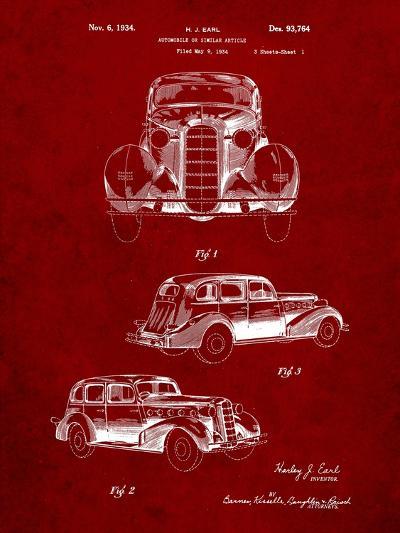 1934 Buick Automobile Patent-Cole Borders-Art Print