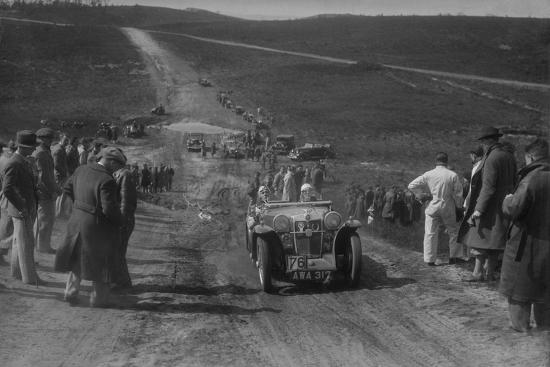 1934 MG PA competing in a motoring trial, Bagshot Heath, Surrey, 1930s-Bill Brunell-Photographic Print