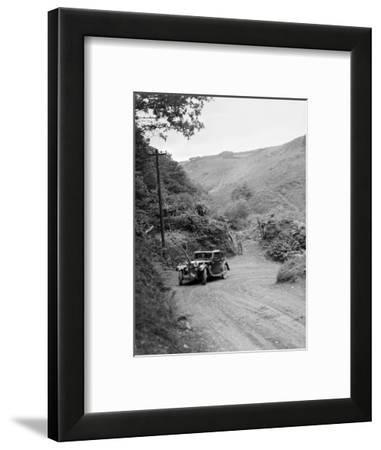 1934 Riley Falcon saloon taking part in a motoring trial in Devon, late 1930s-Bill Brunell-Framed Photographic Print
