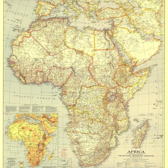 1935 Africa Map Wall Mural – Large by National Geographic Maps