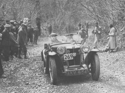 1935 MG PA Midget on the Mcc Land's End Trial, 1939