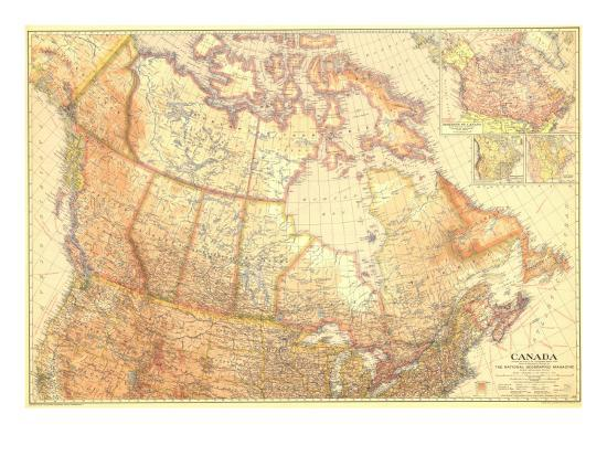 1936 Canada Art Print By National Geographic Maps Art Com