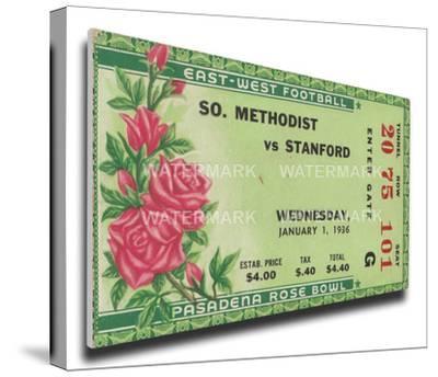 1936 Rose Bowl Mega Ticket - Stanford Indians