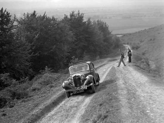 1936 Talbot 10 1185 cc competing in a Talbot CC trial-Bill Brunell-Photographic Print