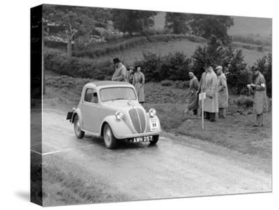 1937 Fiat 500 Coupe Competing in the Welsh Rally