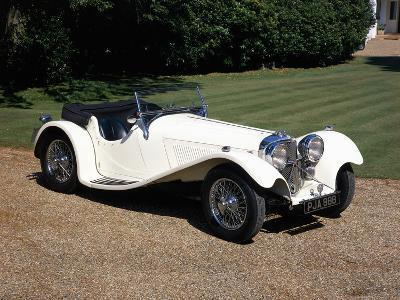 1937 Jaguar SS100--Photographic Print
