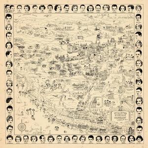 1937, Los Angeles Movie Star Map, California, United States