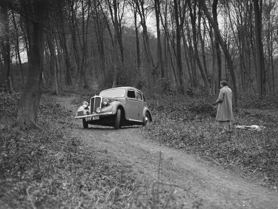 1937 Standard Twelve at the Standard Car Owners Club Southern Counties Trial, 1938-Bill Brunell-Photographic Print