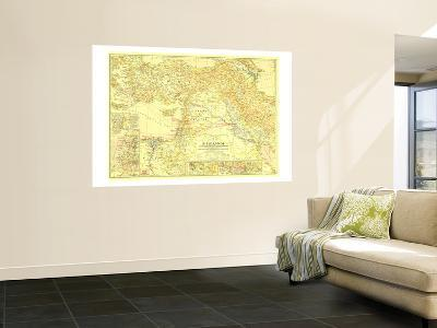 1938 Bible Lands, and the Cradle of Western Civilization Map-National Geographic Maps-Wall Mural