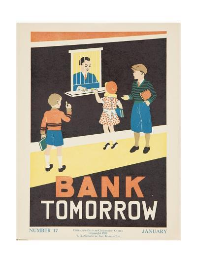1938 Character Culture Citizenship Guide Poster, Bank Tomorrow--Giclee Print