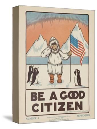 1938 Character Culture Citizenship Guide Poster, Be a Good Citizen