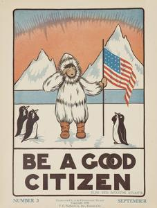 1938 Character Culture Citizenship Guide Poster, Be a Good Citizen