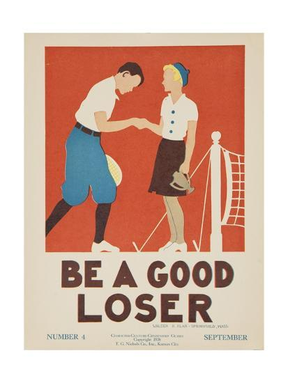 1938 Character Culture Citizenship Guide Poster, Be a Good Loser--Premium Giclee Print