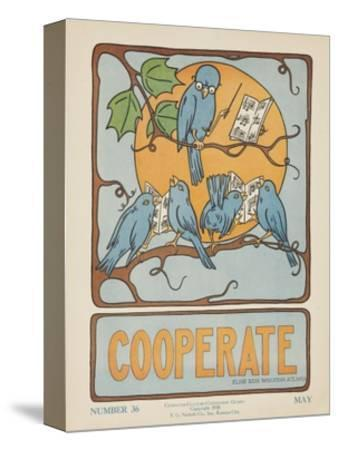 1938 Character Culture Citizenship Guide Poster, Cooperate