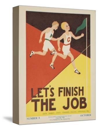 1938 Character Culture Citizenship Guide Poster, Let's Finish the Job