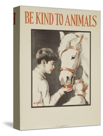 1939 Be Kind to Animals, American Civics Poster, Horse Stall
