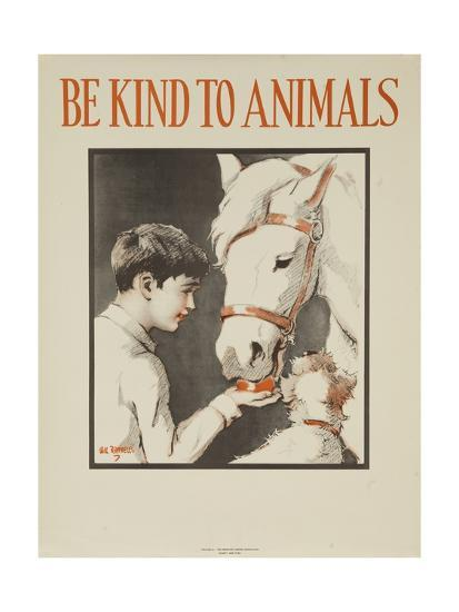 1939 Be Kind to Animals, American Civics Poster, Horse Stall--Giclee Print