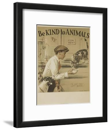 1939 Be Kind to Animals, American Civics Poster, the Cat They Left Behind