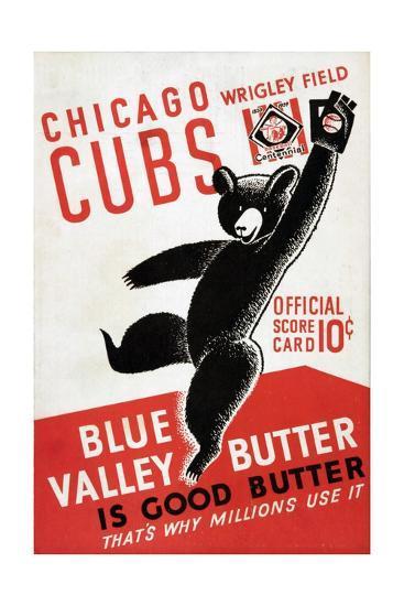 1939 Chicago Cubs Baseball Scorecard--Giclee Print