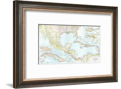 1939 Mexico, Central America and the West Indies Map-National Geographic Maps-Framed Art Print