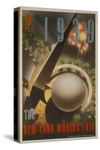 1939 New York World's Fair Poster, the World of Tomorrow, Aerial