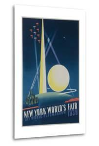 1939 New York World's Fair Poster, the World of Tomorrow, Blue