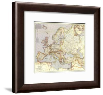 1940 Europe and the Near East Map-National Geographic Maps-Framed Premium Giclee Print