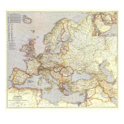 1940 Europe and the Near East Map-National Geographic Maps-Art Print