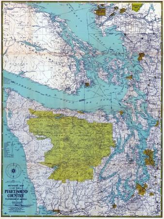 1940, Puget Sound Country 1940c, Washington, United States