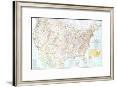 1940 United States of America Map-National Geographic Maps-Framed Art Print