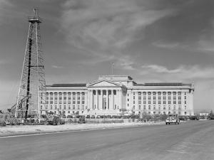 1940s Capitol Building with Oil Derrick in Foreground Oklahoma City