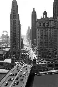 1940s Downtown Skyline Michigan Avenue Chicago, Illinois