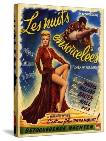 1940s France Lady In The Dark Film Poster