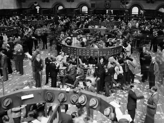 1940s Trading in Progress on Floor of New York Stock Exchange NYC--Photographic Print