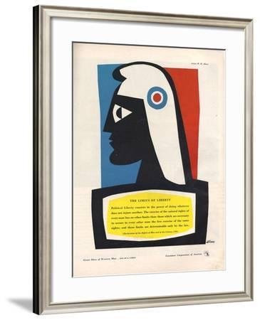 1940s USA Container Corporation of America Magazine Advertisement--Framed Giclee Print